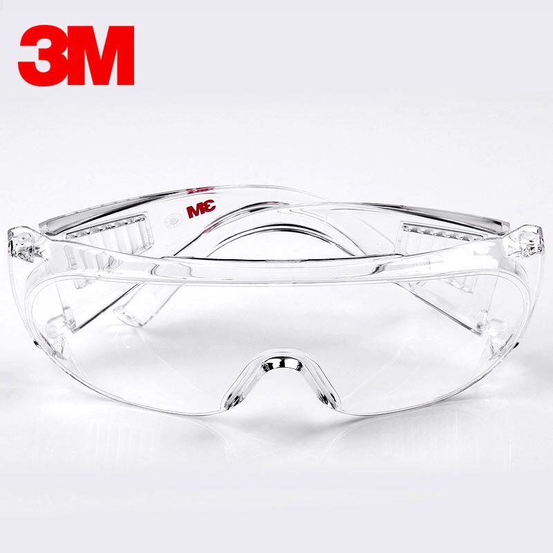 3M護目鏡防護眼鏡防塵透氣勞保防飛濺騎行防風沙灰塵透明平光男女